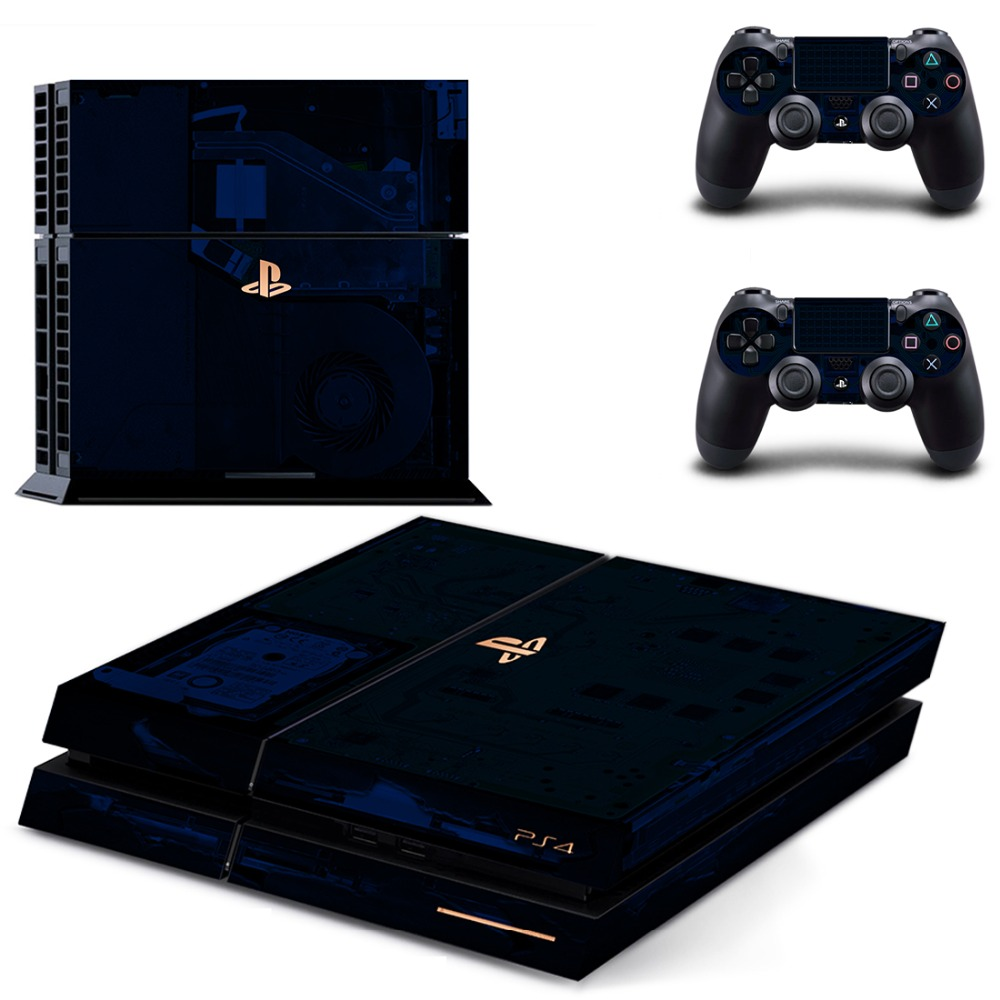 Купить с кэшбэком 500 Million Limited Edition PS4 Skin Sticker Decal for Sony PlayStation 4 Console and 2 controller skins PS4 Stickers Vinyl