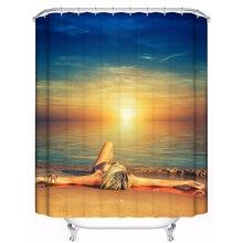 Новый дизайн 180x180 см сексуальная душевая занавеска из полиэстера