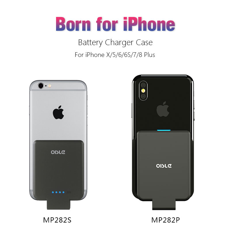 Battery Charger Case For iPhone X XS 6 6s 7 8 Plus External Backup Battery Case