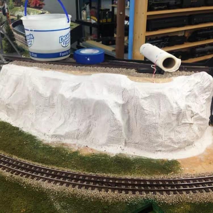 200mm*2.7m Plaster Cloth,scale Model Building Materials Landscape Model Train Railway Layout Scenery DIY Miniature Dioramas