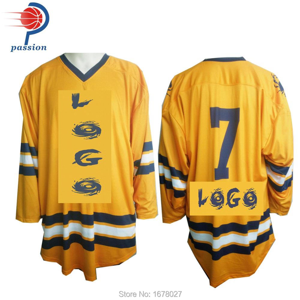 sports shoes 2c10a 1d1ef US $1000.0 |Yellow Navy Blue Reversible Hockey Jerseys with Two Layers  Fabric Sewn-in Hockey Jerseys from Sports & Entertainment on Aliexpress.com  | ...