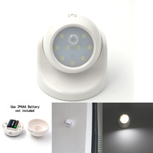Security 9 LED Motion Sensor Night Light 360 Degree Rotation Children's Nightlight Auto IR Infrared Detector Lamp