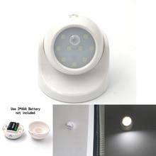 Security 9 LED Motion Sensor Night Light 360 Degree Rotation Children's Nightlight Auto IR Infrared Detector Lamp