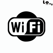 Wifi Logo Business Decoration Wall Sticker Shop Window Internet WIFI Vinyl Wall Decal