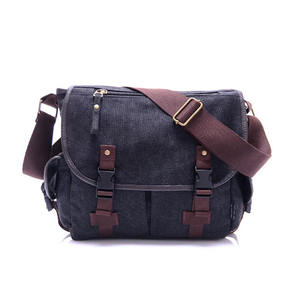 New Canvas Messenger Bags Men S Solid Cover On Casual School Shoulder Male Capacity Cross Body Bag Aliexpress Alibaba Group