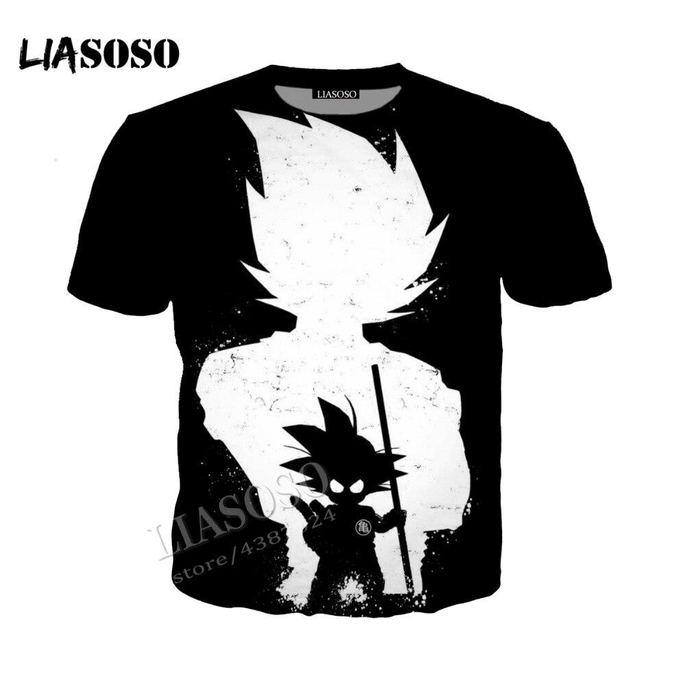 LIASOSO3D Print Comfort Polyester Japanese Anime Hoodie Zip Hoodie Dragon Ball Wukong Saiyan Men Women  simple Sportswear CX225
