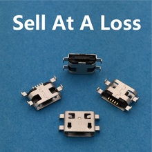 10pcs/lot Micro USB 5pin B Type Female Socket Connector Plain Mouth G29 For Mobile Phone Charging