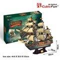 Кэндис го CubicFun 3D бумаги Головоломки Испанской Армады сан-Фелипе 1690 соберите игры архаичные корабль лодка модель ребенка подарок