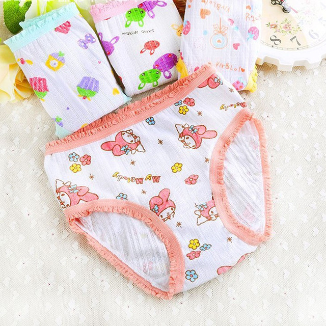 dc0ce7c342ea cartoon cake strawberry lollipop rabbit girls trunk boxers kids shorts  child panties cotton pants children underwear briefs 6PK