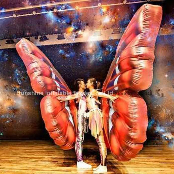 Горячая продажа Девушка Взрослые красивые использовать производительность костюм надувные крыло бабочки для вечерние/клуб/Stage