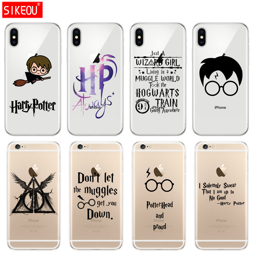 cd135528e6 Silicone Cover Phone Case For Iphone 6 X 8 7 6s 5 5s SE Plus 10 Case Harry  Potter always