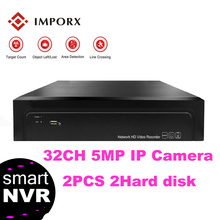 цена на IMPORX Full HD 32CH 5MP Surveillance Security Video Recorder H.265 25/16/9CH 4K Network Video Recorder HDMI ONVIF P2P CCTV NVR