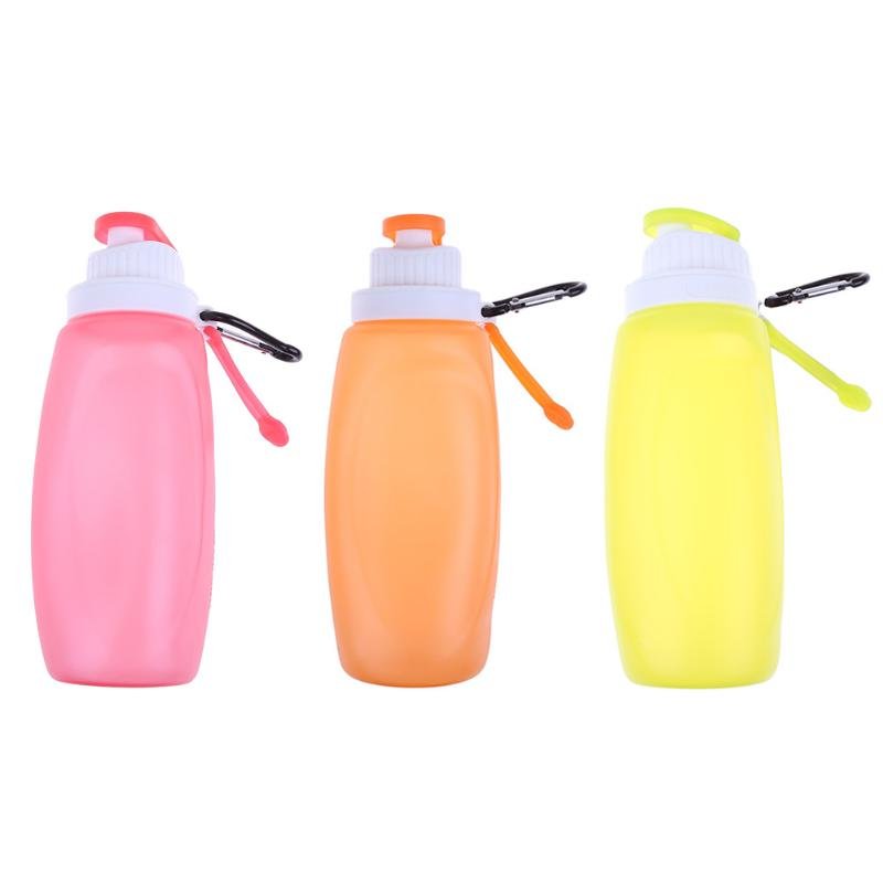 Portable Creative Silicone Foldable Water Bottle Outdoor Camping Hiking Travel Sports Kettle Collapsible Bicycle Bottle