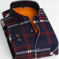 2017 New Autumn And Winter Men S Warm Shirt And Plush Men S Long Sleeve Shirt