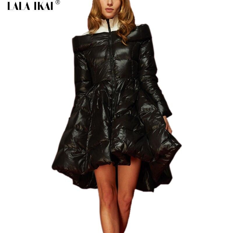 Black Woman Warm Coat Winter Jacket Ladies Big Swing Women Coat Parka Down Jacket Clothes Plus Size White Duck Down SWJ0174-4