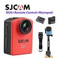 Frete Grátis!! M20 Original SJCAM WiFi Min Sports DV com Controle Remoto Giroscópio 2160 P 16MP + Monopé + Bateria Extra + Carregador de bateria