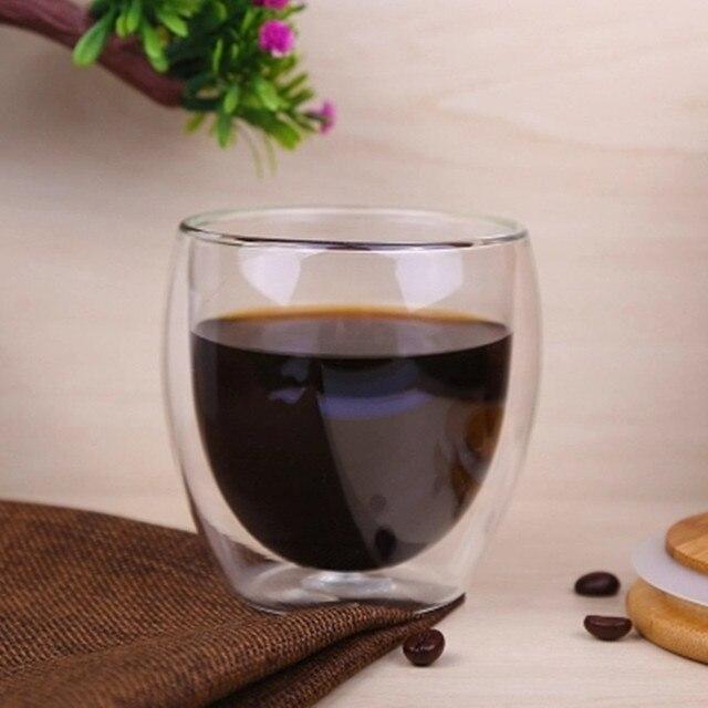 80/250/350/450ml Heat-resistant Double Wall Glass Cup Beer Coffee Cups Handmade Healthy Drink Mug Tea Mugs Transparent Drinkware 5