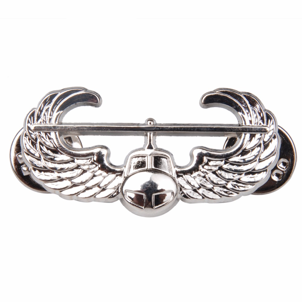 US UNITED STATES AIR FORCE AIR ASSAULT QUALIFICATION METAL BADGE