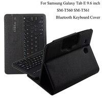 For Samsung GALAXY Tab E 9.6 T560 T561 Removable Wireless Bluetooth Keyboard Portfolio Folio PU Leather Case Cover+Film + Stylus