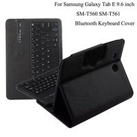 For Samsung GALAXY Tab E 9.6 T560 T561 Removable Wireless Bluetooth Keyboard Portfolio Folio PU Leather Case Cover+Film + Stylus