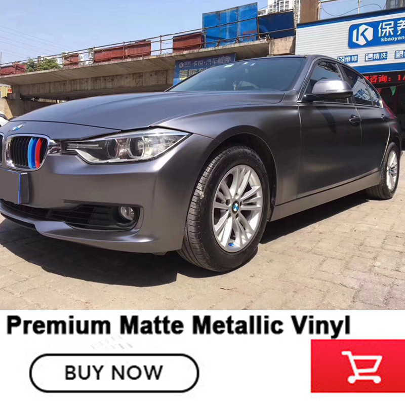 Best Quality Matte Satin Chrome Charcoal dark Grey Vinyl Car Body Wrap Film For Car Sticker Bubble Free 20m for 1 car quality guarantee silver chrome vinyl film for car wrapping sticker with air bubble free 20m roll