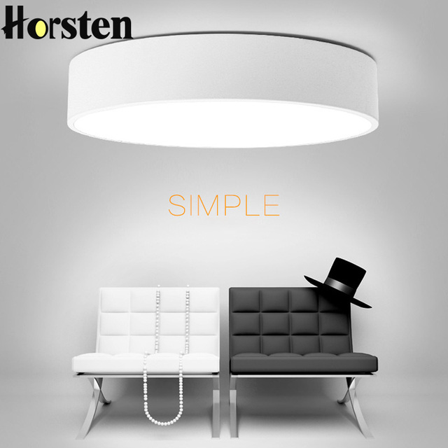 Horsten Modern Minimalism LED Ceiling Light Round Down Lamp Creative Personality Study Dining Room