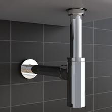 Дезодорант сливной дизайнерский Сифон для умывальника цилиндрический хромированный Овальный стеклянный кран для ванных и туалетных комнат кухонный смеситель M50