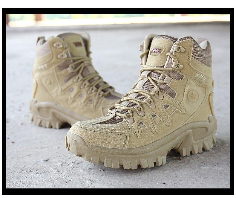 HOMASS botas militares de alta calidad Flock desierto hombres zapatos