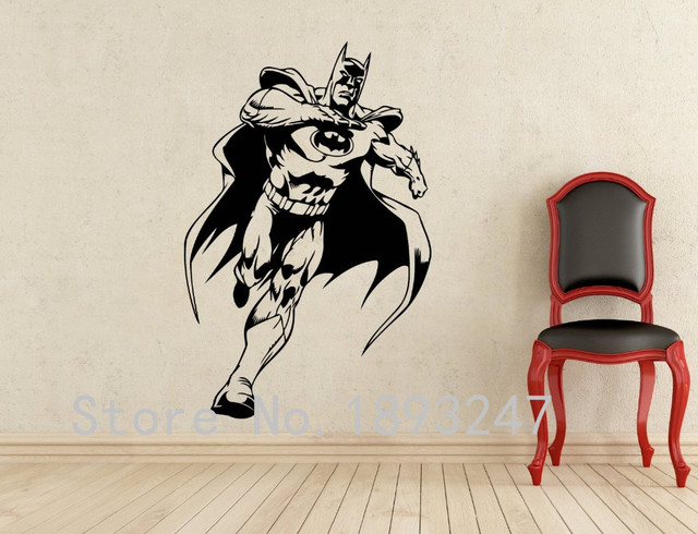 Beau Comics Art Batman Wall Decal Superhero Wall Sticker Home Decoration Any  Room Waterproof Removable Vinyl Wall