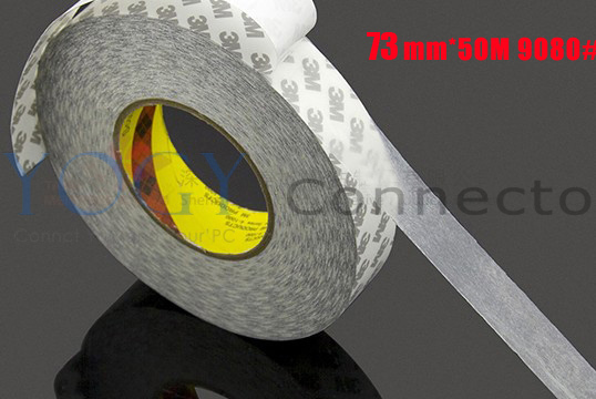 1x 73mm 3M 9080 two Sides Tape for LED Strip LCD Case, Sticky, Commone Using Adhesive Tape 27mm 50m 3m 9080 two sides adhesive sticky tape for electrica panel lcd screen bond photo picture wood frame joint