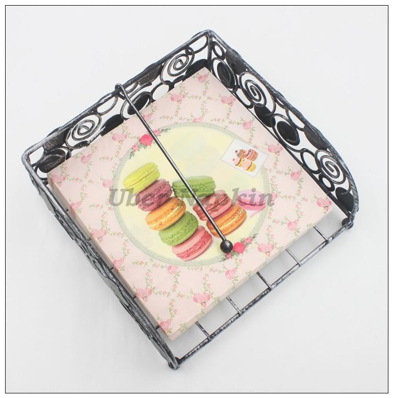 [RainLoong] Macaroon Cakes Papierservietten Festliche & Party - Partyartikel und Dekoration - Foto 2