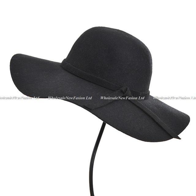 6acb6edcc8c11 6 piezas especial 100% lana sombreros señoras Floppy lana fieltro Caps  invierno de las mujeres