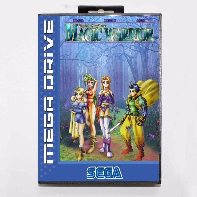 afc25a1f5e6 Brave Battle Saga Legend of the Magic Warrior 16 bit MD Game Card With Retail  Box For Sega Megadrive/Genesis