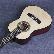 "30 ""classical guitar color Basswood practice piano The rounded guitar Children's portable travel guitar"