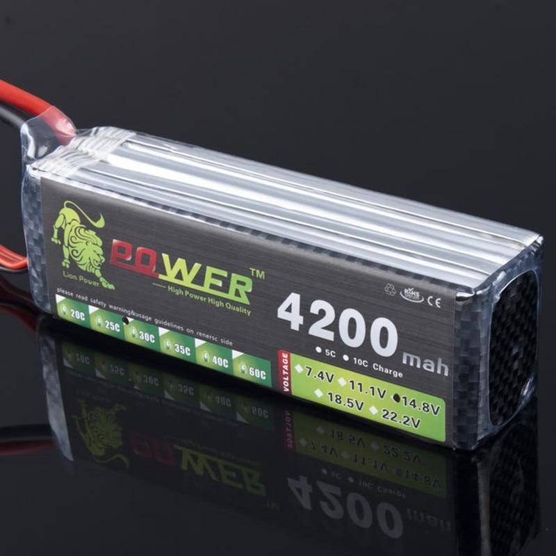 Original Lion Power Lipo Batería 14.8V 4200mAh 30C MAX 40C T / XT60 - Juguetes con control remoto