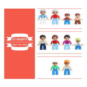 Family figuren Big Building Blocks home DIY Doll Original Accessory Compatible With Duplo Bricks City Figures Toys Children Gift 957pcs my world figures toy building blocks compatible with legoed minecrafted city diy bricks toy gift for boy girl gift new