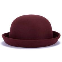 Модные зимние женские классические винтажные джазовые теплые женские фетровые кепки, повседневные хлопковые однотонные милые уличные шапки, маленькие шляпы