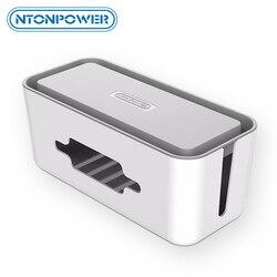 NTONPOWER البلاستيك الصلب قطاع الطاقة صندوق تخزين كابل اللفاف المنظم إدارة الكبلات صندوق مع حامل و غطاء للسلامة المنزلية