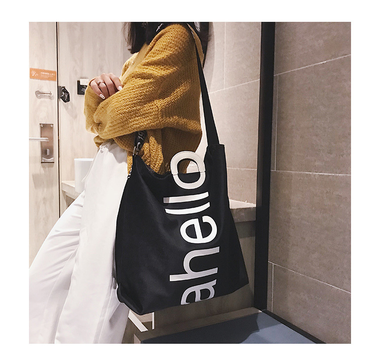 HTB19O0PXs vK1Rjy0Foq6xIxVXaT - New Large-capacity Velvet Handbag Fashion Lady Letter Shoulder Crossbody Bag High Quality Women's Shopping Bag Tote