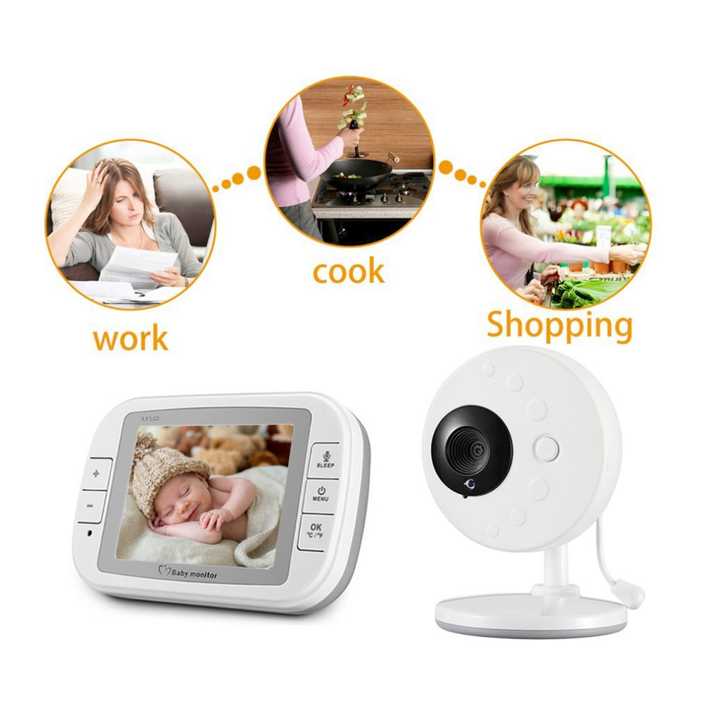 Baby Monitor 3.5 inch Wireless TFT LCD Video Baby Monitor Night Vision 2-way Audio Infant Baby Camera Digital Video Babysitter