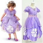 Fancy Kids Baby Girls Purple Sofia The First Princess Costumes Cosplay Dress