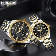 NIBOSI Lovers Watch Men Women Watches Relogio Feminino Top Brand Luxury Women Watch Gold Gift Unique Quartz Dress Wristwatch все цены