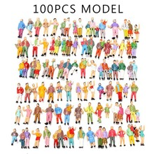 HOT SALE 100pcs Mixed Painted Model Trains People Passengers Figures Scale 1:87 Make the Model more Vivid easy to describe hot sales vivid life size skull model