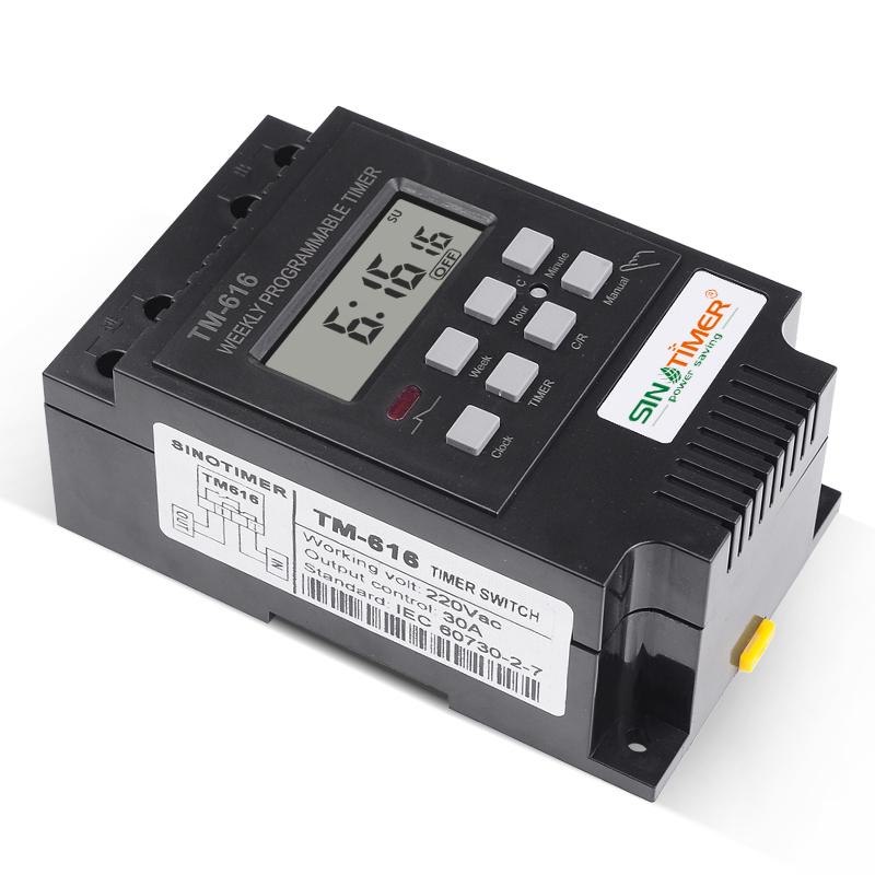 цифровой таймер 220В; DIN-рейку кВтч метр; реле времени;