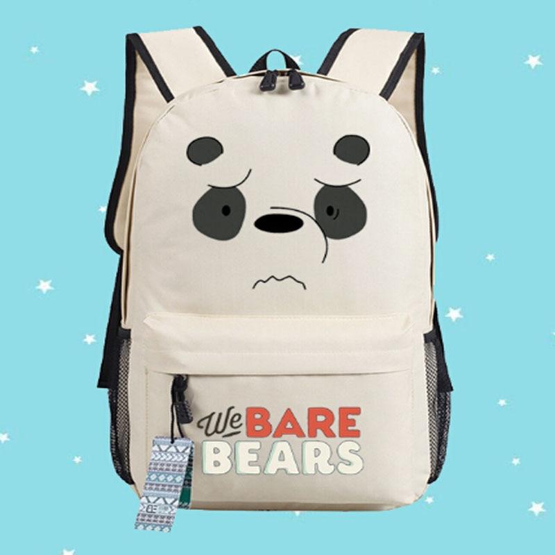 We Bare Bears Backpack Funny Bear School Bag Multiple Type 45x32x13cm