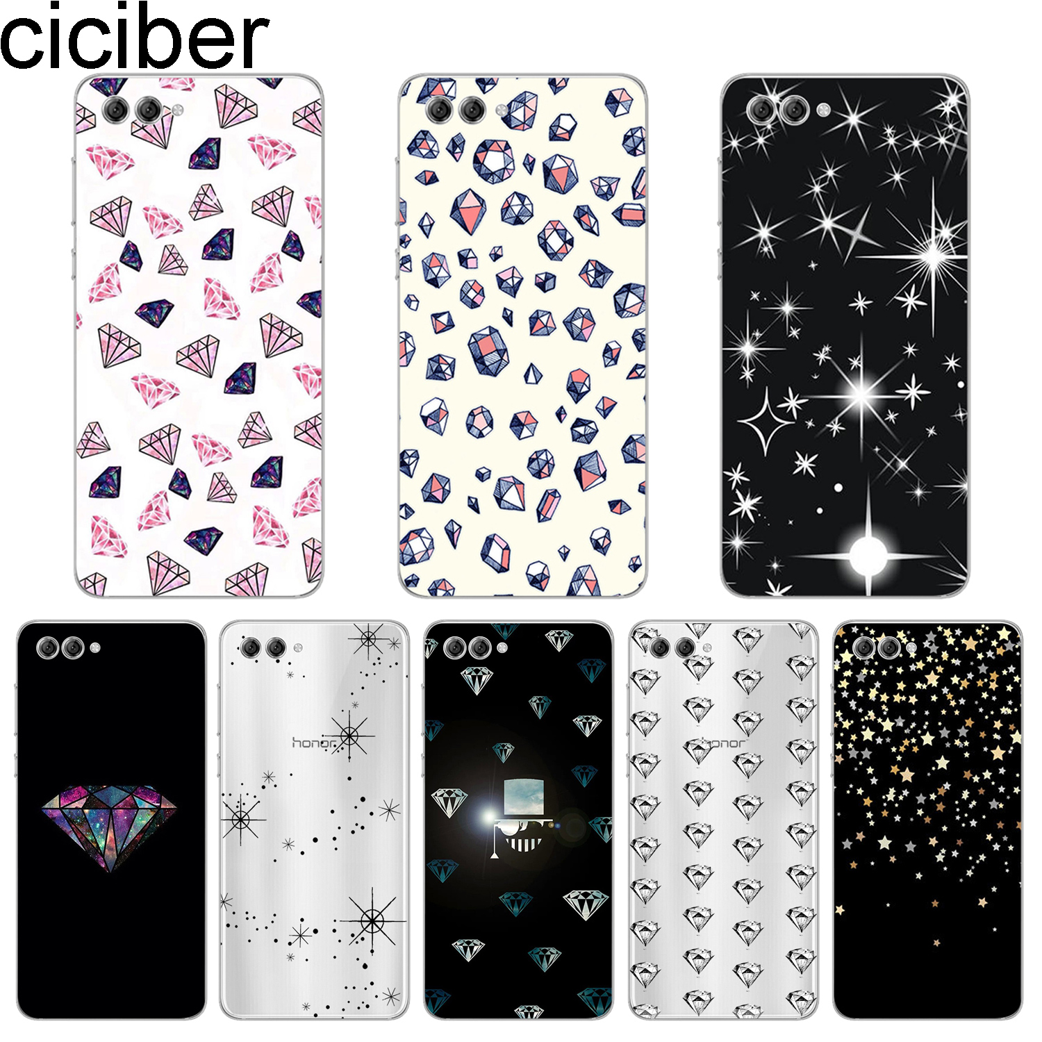 ciciber For <font><b>Y</b></font> 9 7 6 <font><b>5</b></font> 3 Prime Pro 2017 <font><b>2018</b></font> 2019 Soft TPU Phone Cases For Honor V 9 8 10 Lite Pro X C Shiny star diamond <font><b>Fundas</b></font> image
