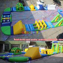 Water flushing inflatable floating park inflatable floating water game cheap inflatable water park for sale