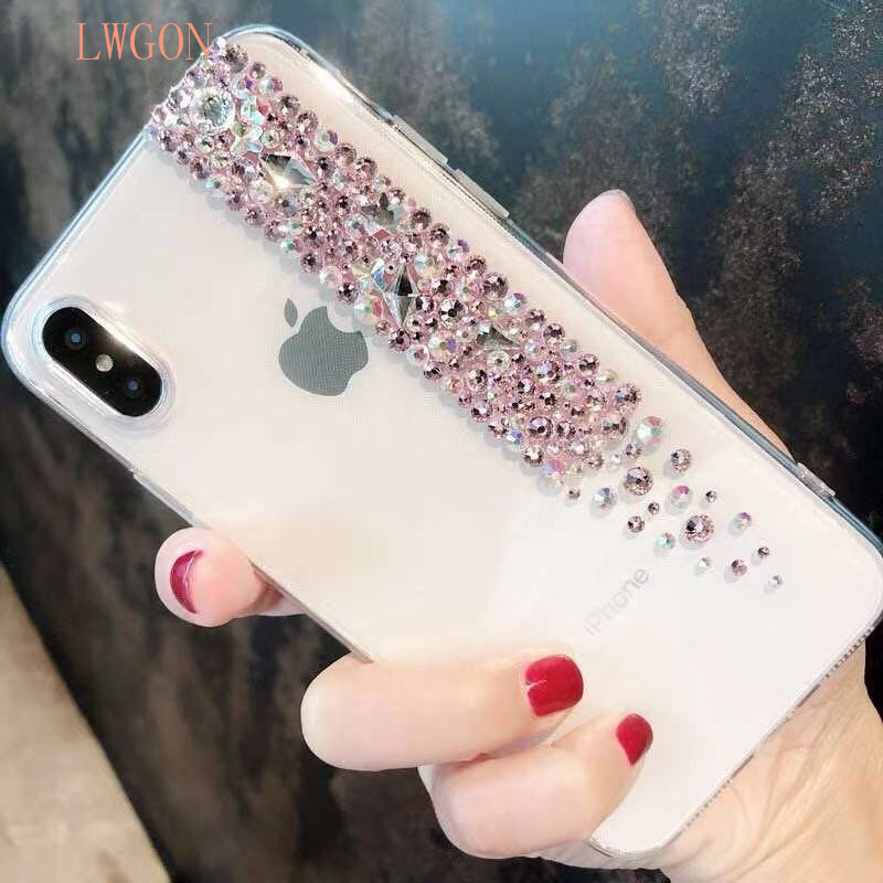 diamond drill case for Voor VIVO V11 PRO Y83 PRO V9 NEX Y81 voor X21i Y53i transparent phone shell anti-fall