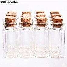10 шт 10 мл маленькие бутылки желаний маленькие пустые прозрачные пробковые стеклянные бутылки флаконы для праздника, свадьбы, украшения дома рождественские подарки