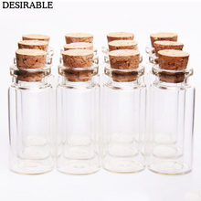 10Pcs 10ml Wish Bottles Tiny Small Empty Clear Cork Glass Bottles Vials For Holiday Wedding home Decoration Christmas Gifts(China)